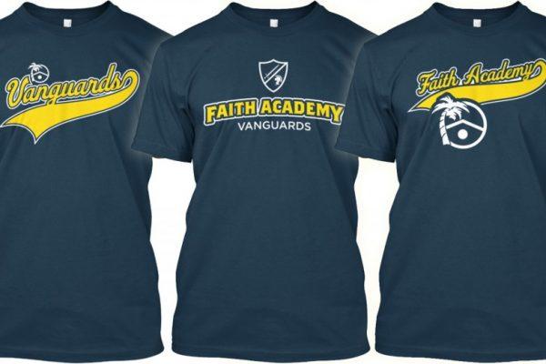 Faith Academy Vanguards shirts