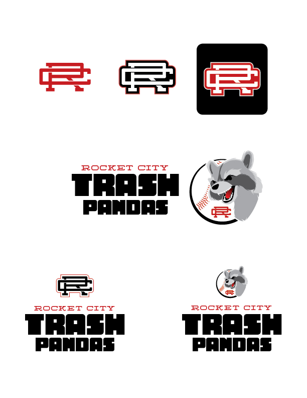 Rocket City Trash Pandas Logo Revision B